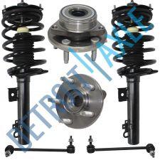 Buy 6 pc Kit - NEW 2 Front Ready Strut Assembly + 2 Wheel Hub Bearing and 2 Sway Bar