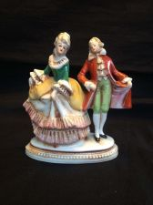 Buy Antique porcelain Germany. Couple . Marked