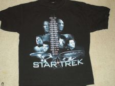 Buy Star Trek Original/NG Final Frontier saying Shirt Size-L