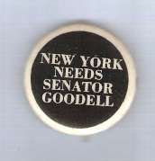 Buy New York Senate Candidate: Goodell Political Campaign Button~1