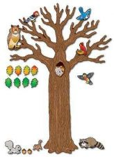 Buy Big Tree Animals Bulletin Board Kids Fun Nature Sticky Wall Classroom Seasons