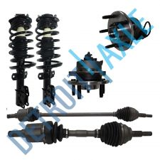 Buy 2 Front CV Axle Shaft M.T. + 2 Wheel Hub Bearing ABS + 2 Ready Strut + 2 Tie Rod