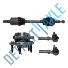 Buy Front Driver CV Axle Shaft + 2 NEW Tie Rods + NEW Wheel Hub and Bearing Assembly