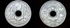 Buy 1921 French 5 Centimes World Coin - France