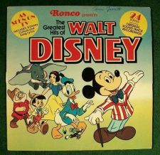 "Buy The Greatest Hits of WALT DISNEY. Ronco Teleproducts ""As Seen On TV"" 1976 LP"