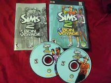 Buy Sims 2 BON VOYAGE PC DISCS MANUAL CASE & ART NEAR MINT TO VG HAS CODE