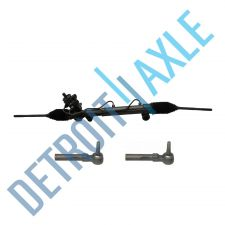 Buy Complete Power Steering Rack and Pinion USA Made Assembly + 2 New Outer Tie Rods