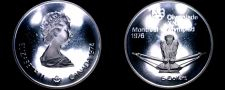 Buy 1974 Canadian Proof Silver 5 Dollar World Coin - Canada 1976 Montreal Olympics