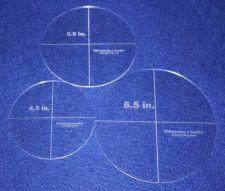"Buy 3 Piece Half Size Circle Set 4,5"", 5.5"", 6.5"" 1/8"" Acrylic Quilting Templates"