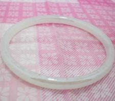 Buy ANTIQUE GLASS JADE BRACELET JADEITE CUTE BANGLE WHITE NATURAL FASHIONS CHINESE.