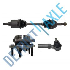 Buy Front Driver CV Axle Shaft + NEW Tie Rod + NEW Wheel Hub and Bearing Assembly