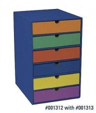 Buy School Office Classroom Keepers 6 Shelf Organizer Blue New Supply Storage New