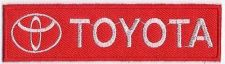 Buy RED TOYOTA LOGO SIGN, IRON / SEW ON PATCH APPLIQUE EMBROIDERED