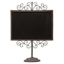 Buy Vintage Display Black Chalkboard Brown Metal Frame tand Drawings Décor Wedding
