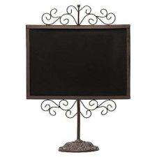 Buy Vintage Display Black Chalkboard Brown Metal Frame tand Drawings Décor Wedding