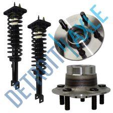 Buy NEW 4 pc Kit - 2 Rear Wheel Hub and Bearing Assembly w/o ABS + 2 Ready Strut Set