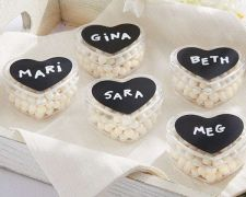 Buy DIY Design Chalk Heart Labels & Heart Favor Holder - (Set of 36)