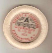 Buy New York Binghamton Milk Bottle Cap Name/Subject: Evertt & Thompson Grade ~455