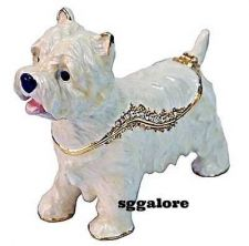 Buy RUCINNI Swarovski BeJeweled WEST HIGHLAND WHITE TERRIER Dog Trinket Jewelry BOX