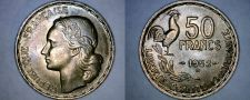 Buy 1952-B French 50 Franc World Coin - France
