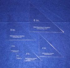 Buy Laser Cut Quilt Templates- 6 Piece Triangle NO seam - Clear Acrylic 1/8""