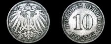 Buy 1907-J German 10 Pfennig World Coin - Germany