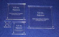 """Buy Quilting Template - 4 Piece Half Size Square Set - ~1/4"""" Clear Acrylic"""