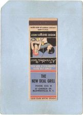 Buy New York Gloversville Matchcover The New Deal Grill 37 Church St w/Very Lo~1975