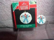 Buy Snow Angle Artists Favorites Miniature Hallmark Handcrafted ornament