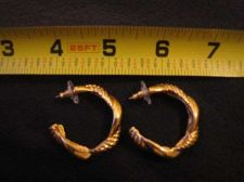 Buy Sarah Coventry Jewelry..Gold Tone Hoop w/Braid Pierced Earrings (Entwined) #1849
