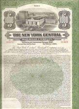 Buy New York New York City Stock Certificate Company: New York Central Railroa~107