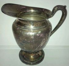 Buy VINTAGE Handled SILVER Pitcher w/Ice Lip (Good Condition)