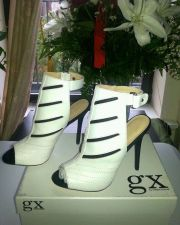 Buy NWB Stiletto High Heels EMIKO-GX White Open-Toe Shoes by Gwen Stefany Sz 7.5M