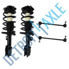 Buy 4 pc Set: Front Driver and Passenger Complete Ready Strut, 2 Stabilizer Bar Link