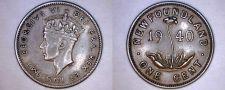 Buy 1940 Newfoundland 1 Small Cent World Coin - Canada