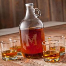 Buy Whiskey Growler Set (4 whiskey glasses) - Free Personalization
