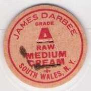 Buy New York South Wales Milk Bottle Cap Name/Subject: James Darbee Raw Medium~59