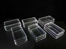 Buy Lots 144 Small Clear Plastic Display Boxes Rectangular + Lid Contain Small Items