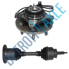 Buy Front Driver or Passenger CV Axle Shaft and Wheel Hub Bearing Assembly w/ ABS