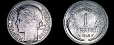 Buy 1948 French 1 Franc World Coin - France