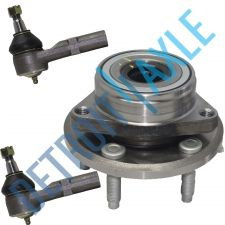 Buy NEW Front Driver or Passenger Wheel Hub and Bearing Assembly + 2 Outer Tie Rods