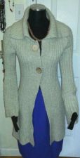 Buy Winter casual Long Cardigan Beige By Hooked up by lot-100%Acrylic-SizeS