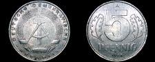 Buy 1968 A German Democratic Republic 5 Pfennig World Coin - East Germany