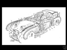 Buy AUSTIN HEALEY BUGEYE Bug Eye SPRITE Diagram PARTS MANUAL for Frog Eye MK 1 model