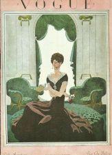 Buy Vogue 1925 Cover Print Lady Living Room by Lepape Art Deco 1984 original print