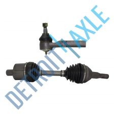 Buy 98-09 Front Driver Side Pontiac Buick Olds Axle Shaft Assembly + Outer Tie Rod