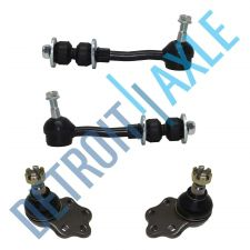 Buy 4 pc Set: 2 Front Stabilizer Bar Link Kits + 2 Lower Ball Joint Suspension RWD