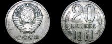 Buy 1961 Russian 20 Kopek World Coin - Russia USSR Soviet Union CCCP