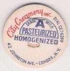 Buy New York Cohoes Milk Bottle Cap Name/Subject: City Creamery Inc.~42