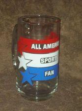 Buy ALL AMERICAN SPORTS FAN Vintage 1983-Collectable Glass Mug- Original Pkg. AVON